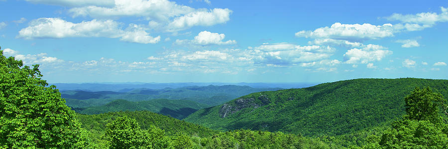 Horizontal Photograph - Scenic View Of Mountain Range, Blue by Panoramic Images