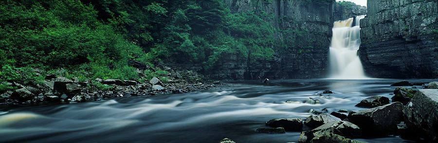 Horizontal Photograph - Scenic View Of Waterfall, Teesdale by Panoramic Images