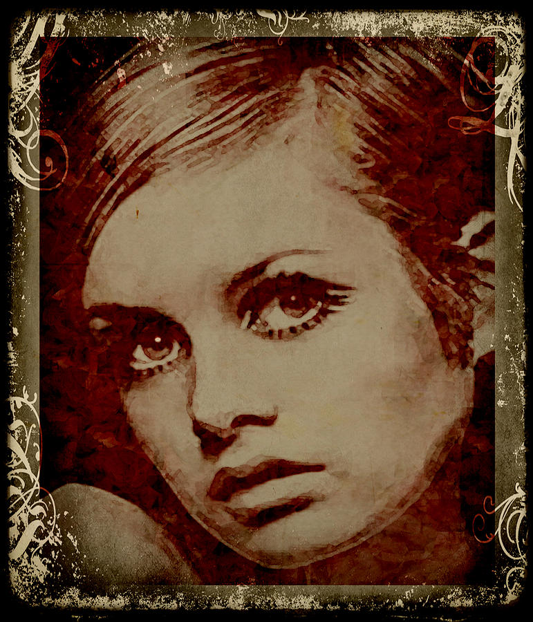Twiggy Prints Digital Art - Scent Of A Woman by Marie  Gale