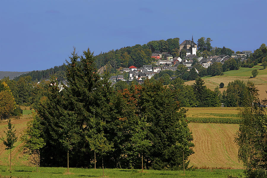 Franconian Photograph - Schauenstein - A Typical Upper-franconian Town by Christine Till