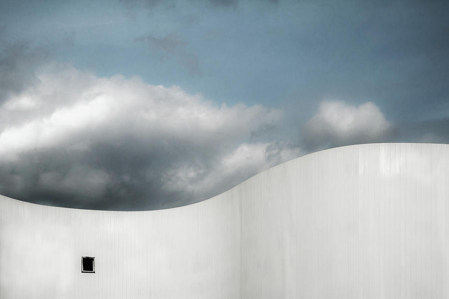 White Photograph - Schauspielhaus by Gilbert Claes