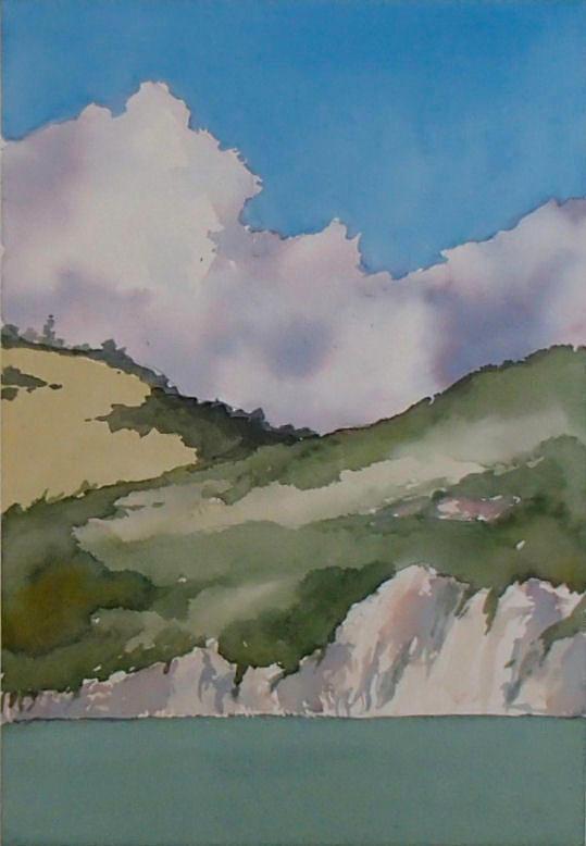 Shell Beach Painting - Shell Beach Cliffs by Philip Fleischer