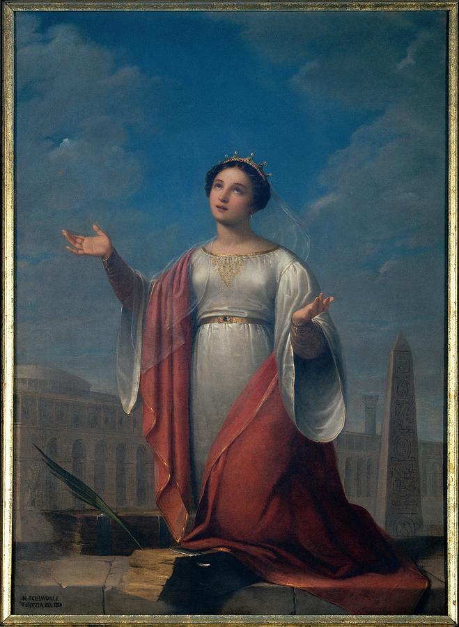 Catherine Photograph - Schiavoni Natale, St Catherine, 1828 by Everett