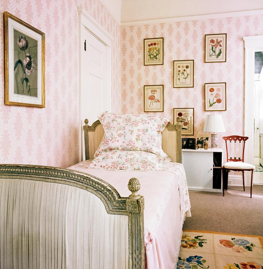Schippers Guest Bedroom Photograph by Horst P. Horst