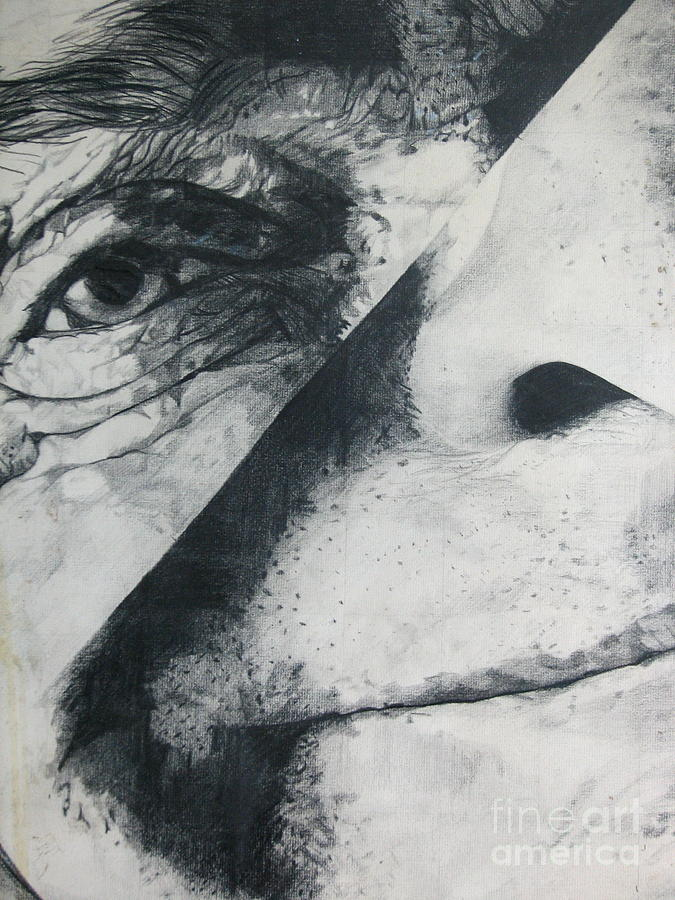 Portrait Drawing - Schism by Rory Sagner
