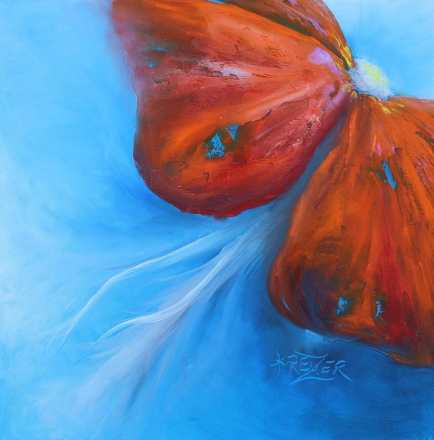 Schmetterlingsblume Painting - Schmetterlingsblume by Karen  Kreuzer