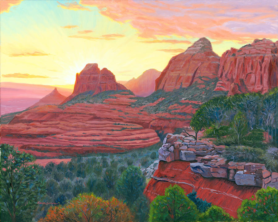 Schnebly Hill Sunset Painting