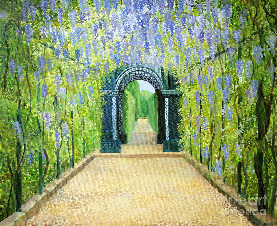 Schoenbrunn In Vienna The Palace Gardens Painting by Kiril Stanchev