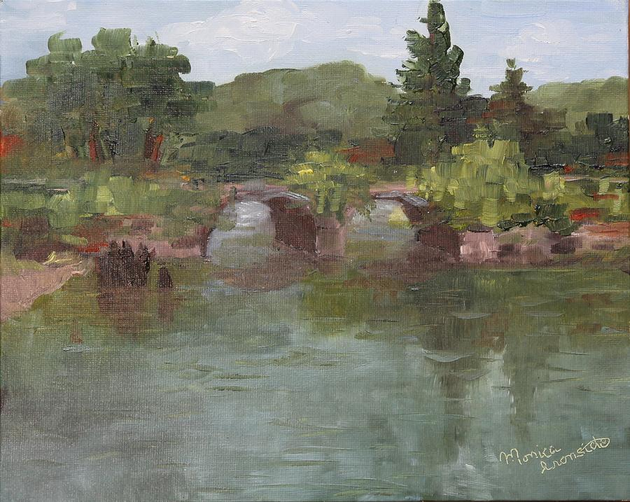 Original Painting - Schofield Road Dam by Monica Ironside