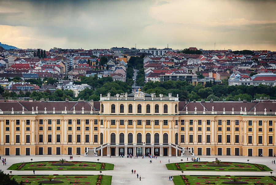 Austria Photograph - Schonbrunn Windows by Viacheslav Savitskiy