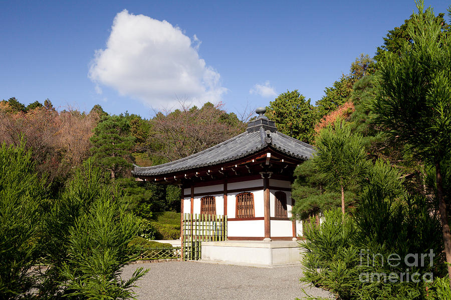 Garden Photograph - School Building Ryoan-ji Temple Kyoto by Colin and Linda McKie