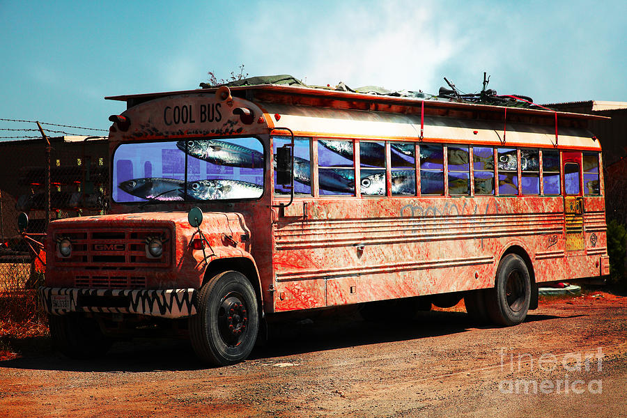 Wingsdomain Photograph - School Bus 5d24927 by Wingsdomain Art and Photography