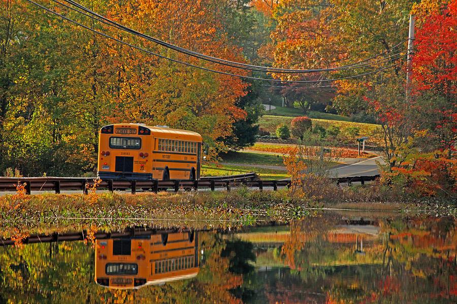 School Days Photograph - School Days Of Autumn by Karol Livote
