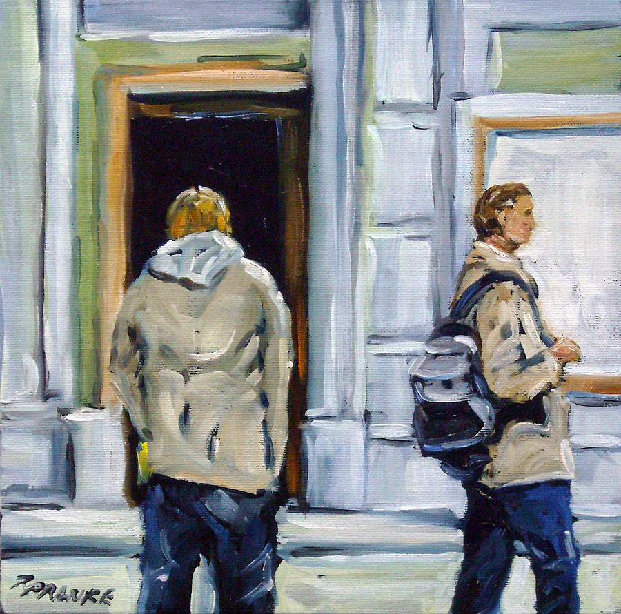 Urban Painting - School Days by Richard T Pranke