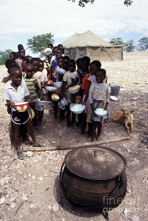 Africa Photograph - School Dinner Namib Desert by Ros Drinkwater