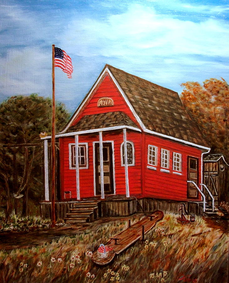 Landscape Painting - School House by Kenneth LePoidevin