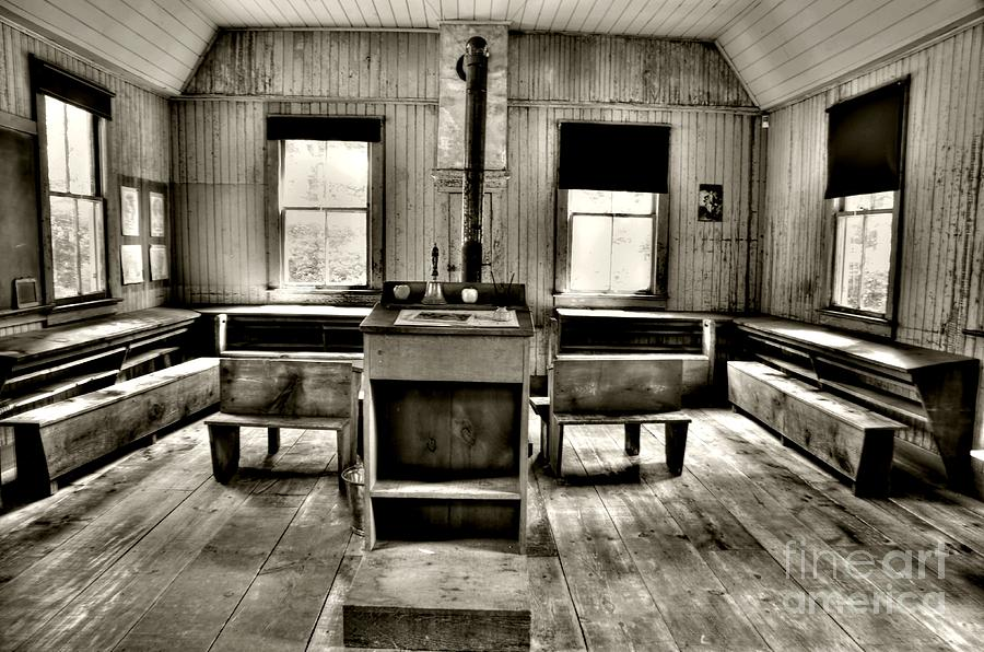 Old Photograph - School Room by Kathleen Struckle