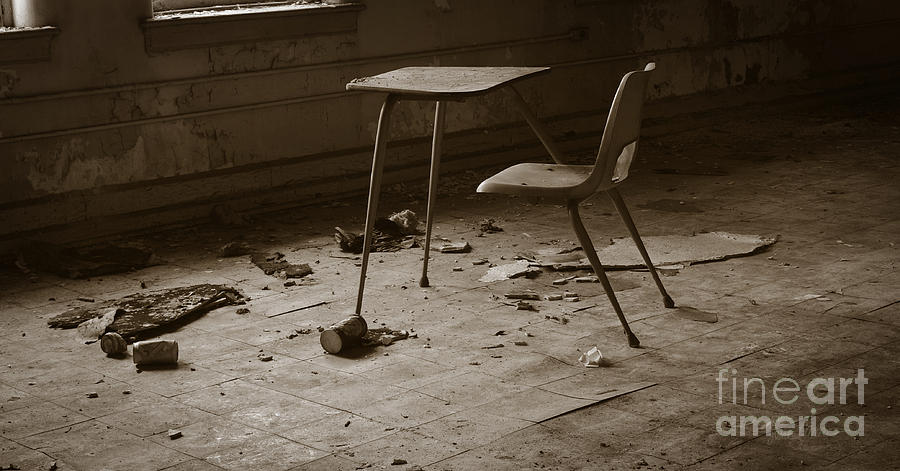 Abandoned Photograph - Schools Out by Luke Moore