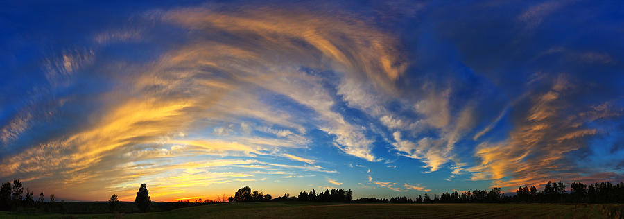 Nature Photograph - Schoolyard Sunset 1 by ABeautifulSky Photography