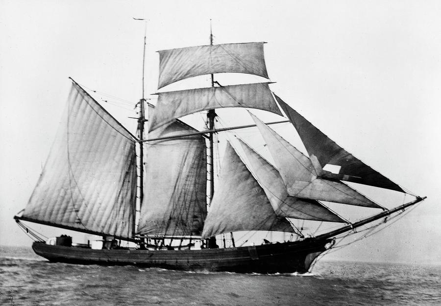 1888 Photograph - Schooner, 1888 by Granger