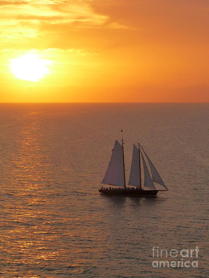 Schooner Photograph - Schooner America 2.0 Sailing In Key West Florida by Christine Stack