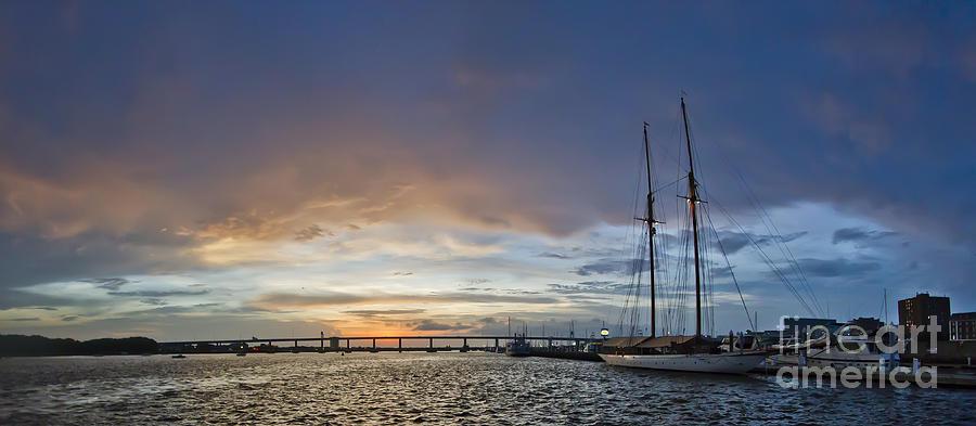 Schooner Photograph - Schooner Germania Nova Sunset by Dustin K Ryan