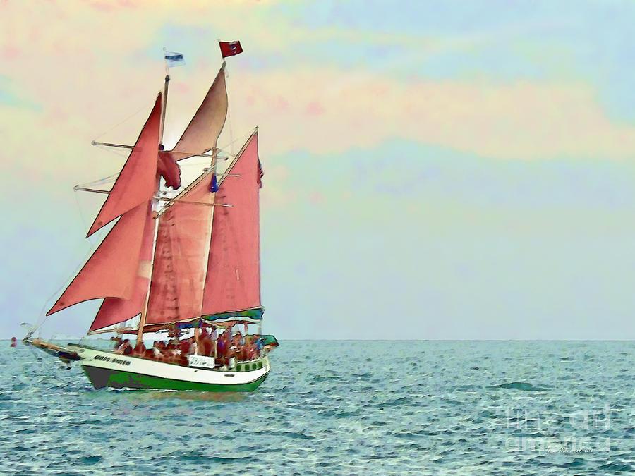 Key West Photograph - Schooner Jolly Rover Key West by Joan  Minchak