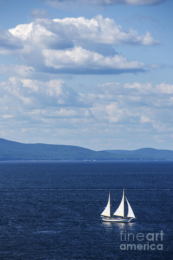 Maine Photograph - Schooner On The Bay by Diane Diederich