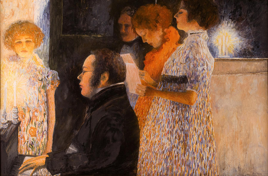 Schubert Painting - Schubert At The Piano  - After Klimt by Don Perino