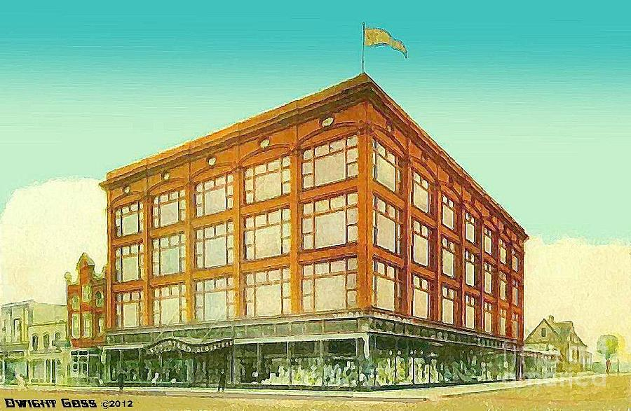 Schuster 39 s department store in milwaukee wi 1908 painting for Craft stores in milwaukee