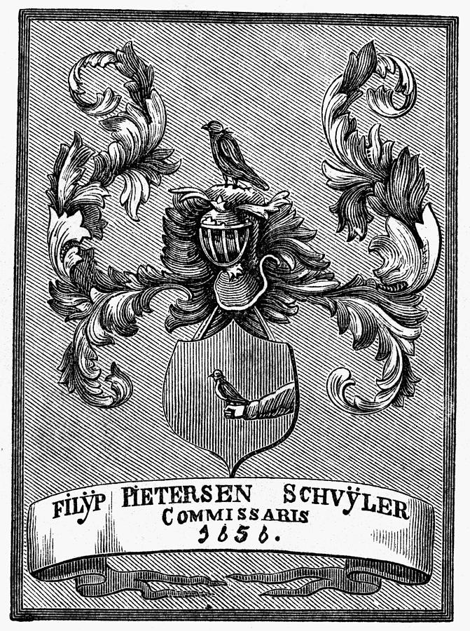 1876 Painting - Schuyler Family Arms by Granger