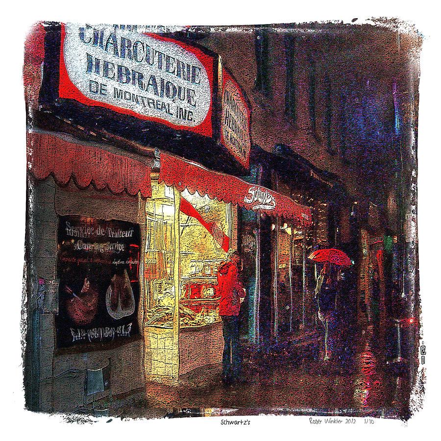Schwartz's Photograph - Schwartzs Hebrew Delicatessen by Roger Winkler