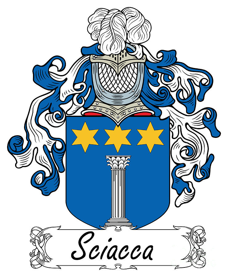 Sciacca coat of arms di sicilia digital art by heraldry for Arte arredi sciacca