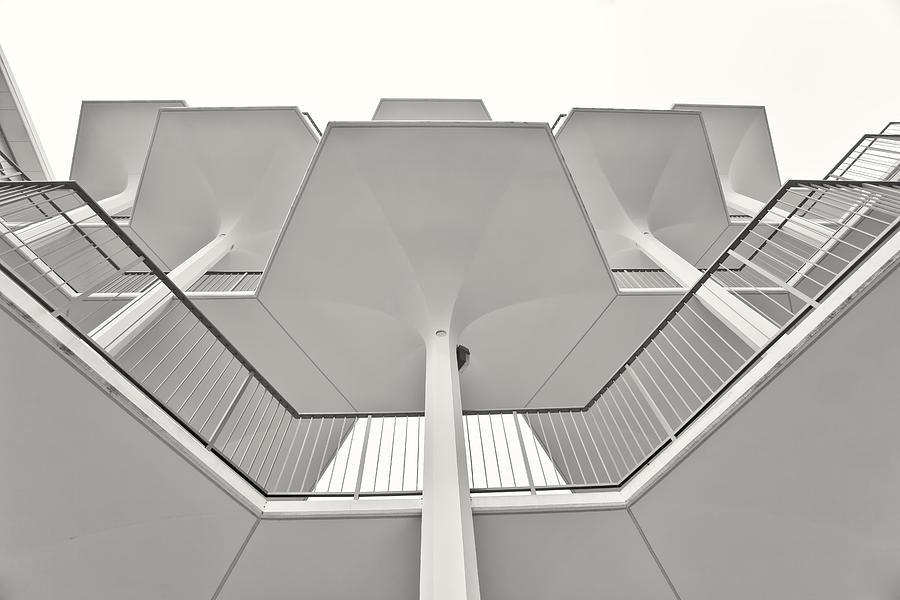 Architecture Photograph - Science Bridge by Geoff Scott