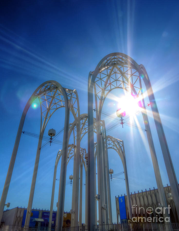 Pacific Science Center Photograph - Science Center Sun Flare by Chris Anderson