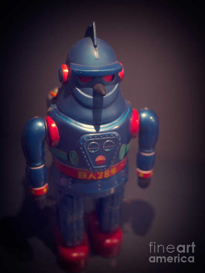 Science Photograph - Science Fiction Vintage Robot Toy by Edward Fielding