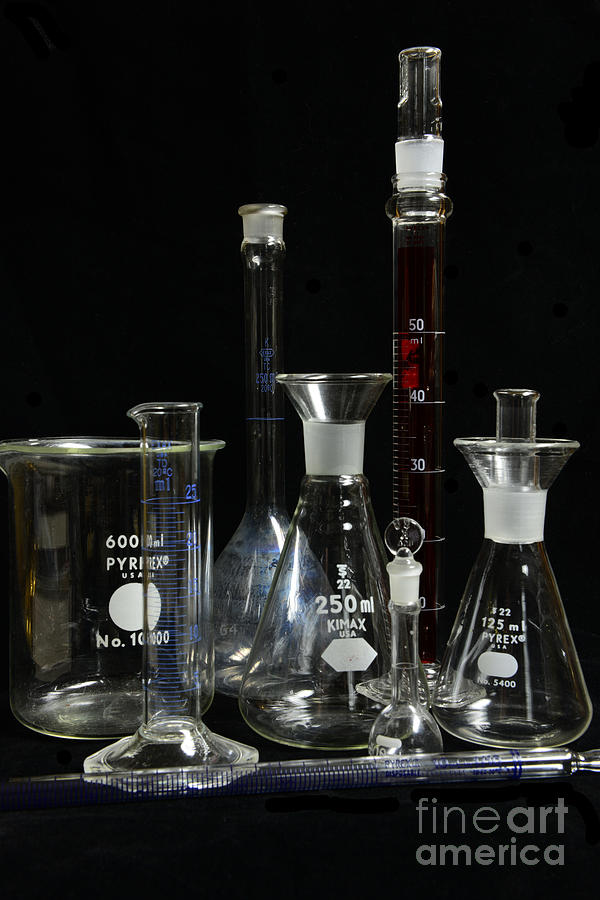Paul Ward Photograph - Science Lab Chemistry by Paul Ward