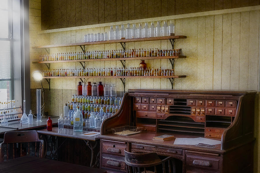 Antiques Photograph - Scientist Office by Susan Candelario