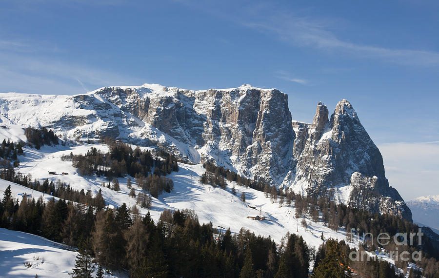 Shed Photograph - Sciliars Mountains by Pier Giorgio Mariani