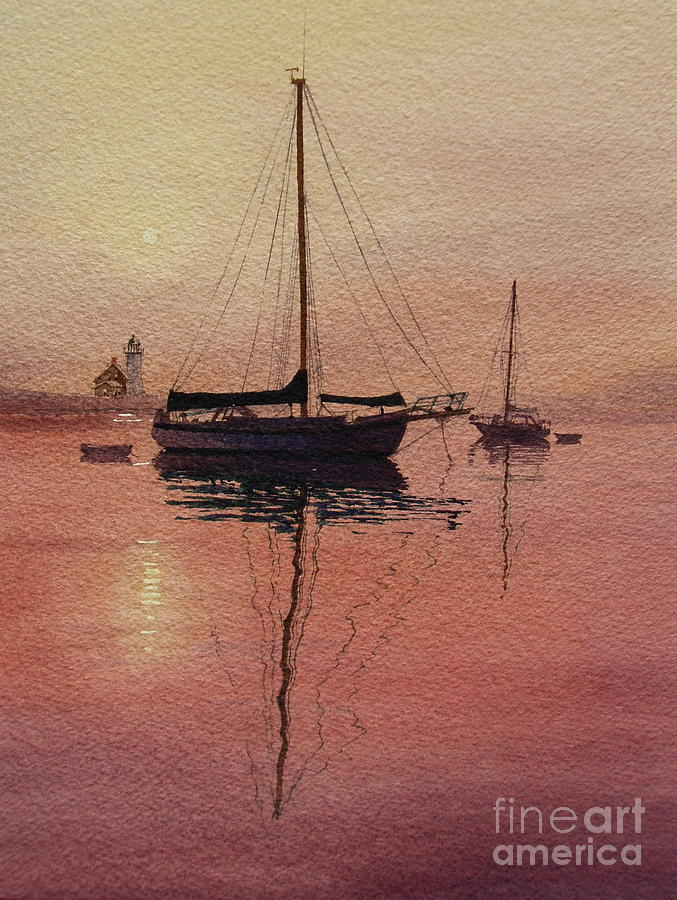 Sailboats Painting - Scituate Serenity by Karol Wyckoff