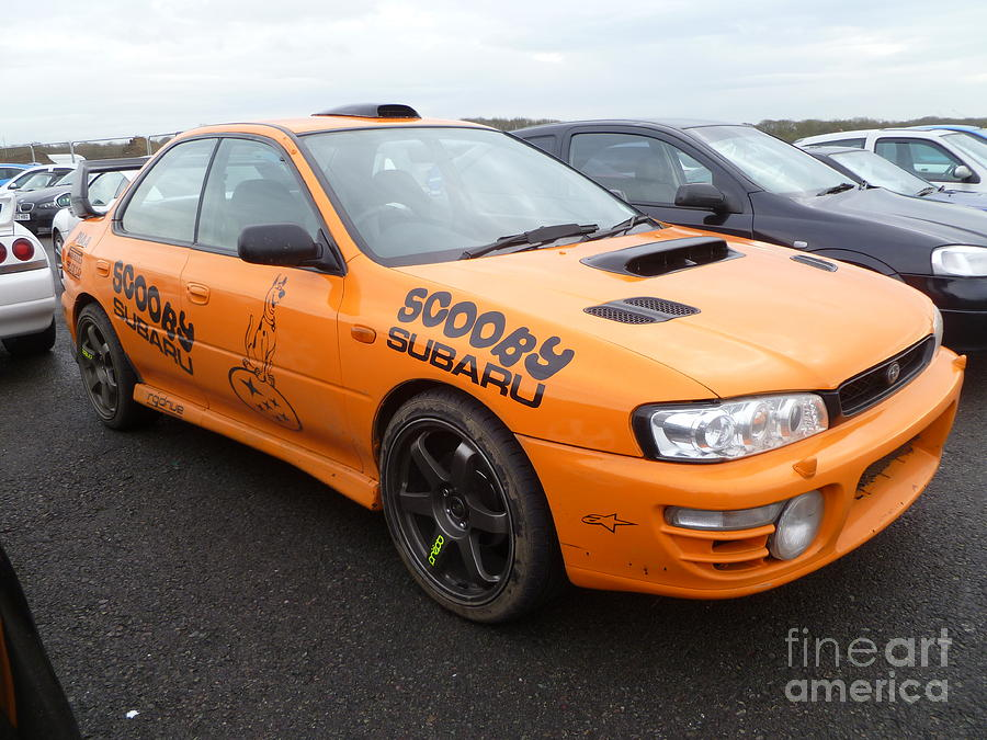Scooby Photograph - Scooby Subaru by Vicki Spindler