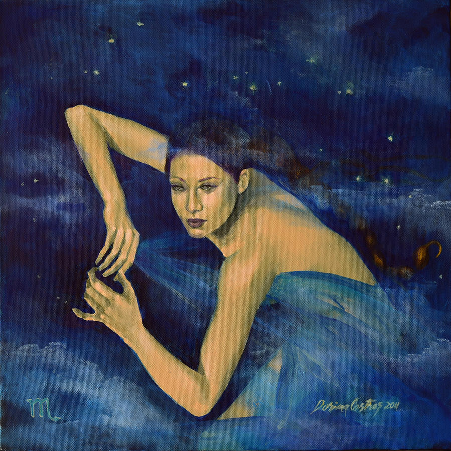 Painting Painting - Scorpio From Zodiac Series by Dorina  Costras