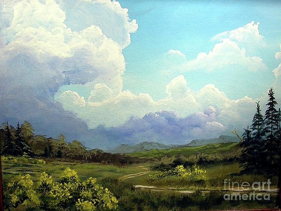 Clouds Painting - Scotch Broom by John Wise