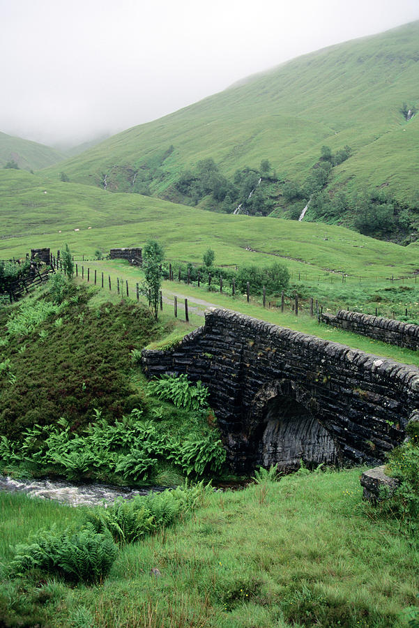 Scotland Highlands Stone Bridge by Vintage Images