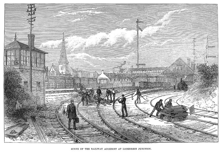 1883 Painting - Scotland Train Crash by Granger