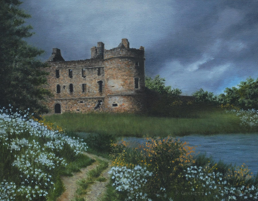 Scottish Castle Painting by Richard Ginnett