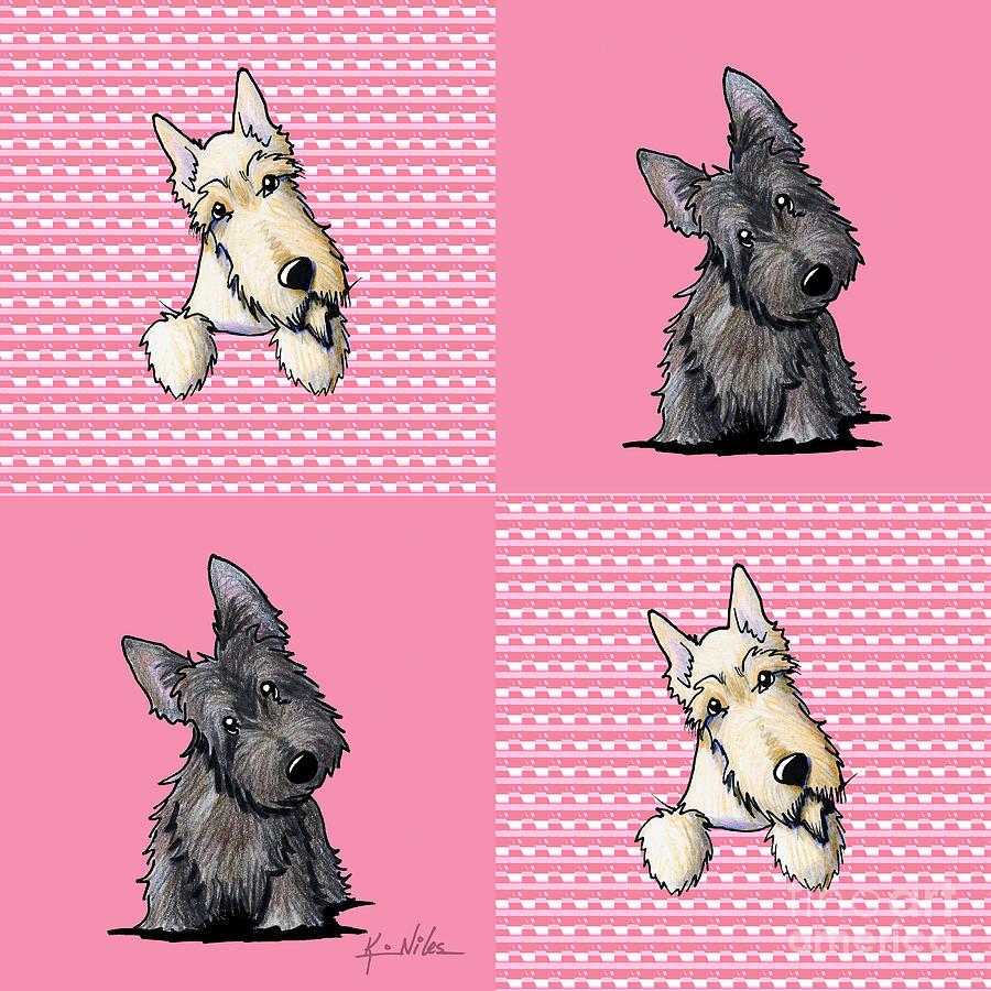 Scottie Digital Art - Scottish Quilt by Kim Niles