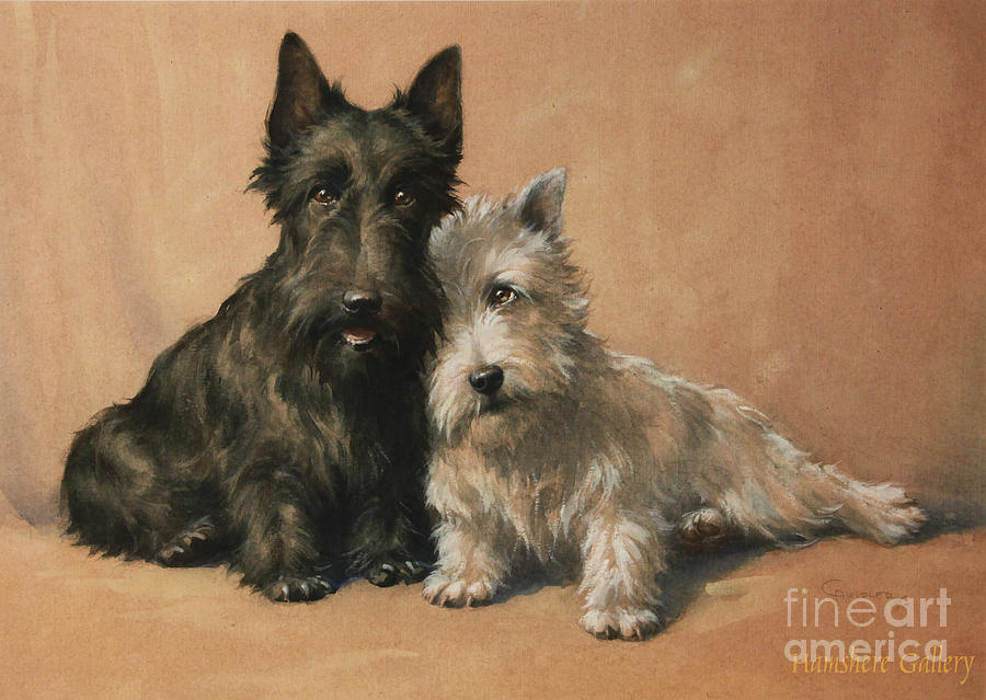 Motion Painting - Scottish Terrier by Christopher Gifford Ambler