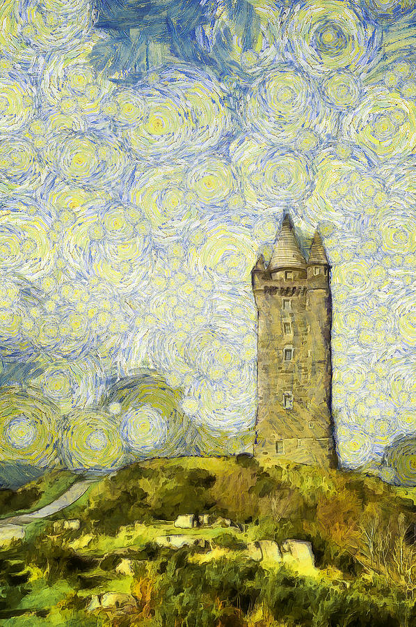 Starry Scrabo Tower Photograph
