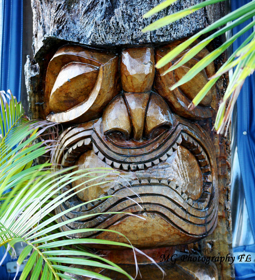 Tropical Photograph - Screaming Tiki  by Marty Gayler
